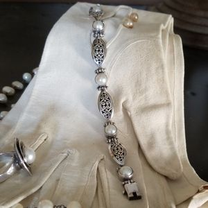 Pearl and .925 Sterling Silver Bracelet